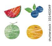 summer fruits illustration ... | Shutterstock .eps vector #331402049