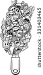 cartoon hand drawn doodle | Shutterstock .eps vector #331403465