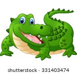 illustration of cute crocodile | Shutterstock . vector #331403474