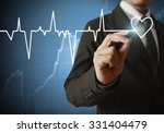 drawing heart and chart... | Shutterstock . vector #331404479