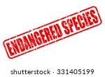 endangered species red stamp... | Shutterstock .eps vector #331405199
