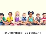 children kids happiness... | Shutterstock . vector #331406147