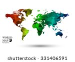 polygonal world map vector. | Shutterstock .eps vector #331406591