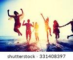 friendship freedom beach summer ... | Shutterstock . vector #331408397
