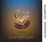 coffee bean vector template   Shutterstock .eps vector #331409741