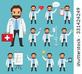 set of doctor character at... | Shutterstock .eps vector #331424249
