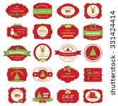 Set Of Christmas Label And...