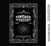 vintage frame border western...   Shutterstock .eps vector #331425224