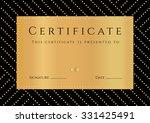 certificate  diploma of...   Shutterstock .eps vector #331425491