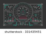 merry christmas outline style... | Shutterstock . vector #331435451