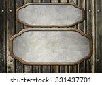 metal   on old wooden... | Shutterstock . vector #331437701