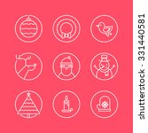 set of outline circle icons... | Shutterstock .eps vector #331440581