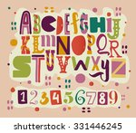 funny abc for your design. | Shutterstock .eps vector #331446245
