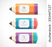 set of colorful pencil with... | Shutterstock .eps vector #331447127