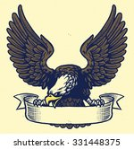 hand drawing style of eagle ...   Shutterstock .eps vector #331448375