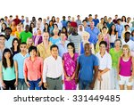 diversity large group of people ... | Shutterstock . vector #331449485