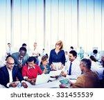business people working... | Shutterstock . vector #331455539