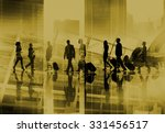 silhouette business people... | Shutterstock . vector #331456517