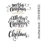 merry christmas lettering... | Shutterstock .eps vector #331458521