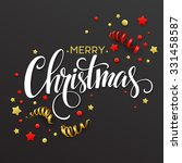 christmas card with confetti... | Shutterstock .eps vector #331458587