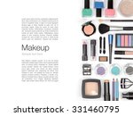 makeup cosmetics and brushes on ... | Shutterstock . vector #331460795