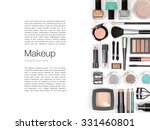 makeup cosmetics and brushes on ... | Shutterstock . vector #331460801