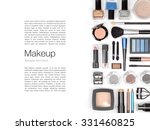 makeup cosmetics and brushes on ... | Shutterstock . vector #331460825