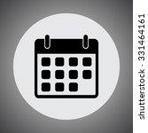 calendar sign icon  vector... | Shutterstock .eps vector #331464161