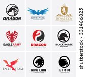 animal logo collection dragon... | Shutterstock .eps vector #331466825