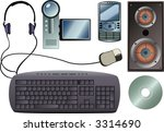 tech gadgets  also available in ... | Shutterstock . vector #3314690