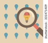 magnifier chooses a creative... | Shutterstock .eps vector #331471409