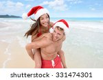 Christmas Couple Having Fun On...