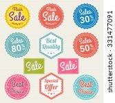 set of retro promotion discount ... | Shutterstock .eps vector #331477091