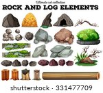 Rock And Log Elements...