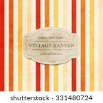 vector vintage striped... | Shutterstock .eps vector #331480724