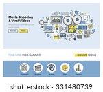 flat line design of web banner... | Shutterstock .eps vector #331480739