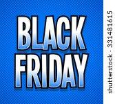 black friday word sign retro... | Shutterstock .eps vector #331481615