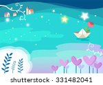 starry river   abstract... | Shutterstock .eps vector #331482041