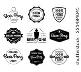 vector set logos and icons beer ... | Shutterstock .eps vector #331484045
