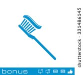 toothbrush icon  | Shutterstock . vector #331486145