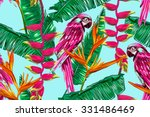 parrot  exotic birds  tropical... | Shutterstock .eps vector #331486469