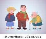 group of senior citizens... | Shutterstock .eps vector #331487381