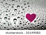 pink paper heart with drops | Shutterstock . vector #33149083