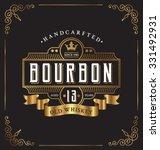 vintage frame label design.... | Shutterstock .eps vector #331492931