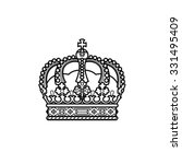 Vector Silhouette Royal Crown...