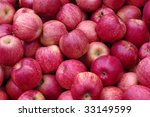 Red Ripe Apple Background