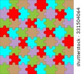 puzzle pattern color.... | Shutterstock .eps vector #331504064