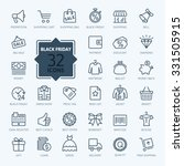 outline icon collection   black ... | Shutterstock .eps vector #331505915