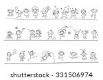 group of sketch kids | Shutterstock .eps vector #331506974