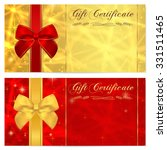 gift certificate  voucher ... | Shutterstock . vector #331511465